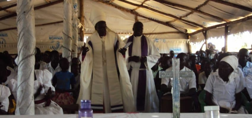 Healing Service In Refugee Camp